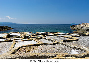 Salt pans - Rock-cut salt pans are to be found in numerous...