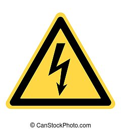 danger electricity sign - High Voltage Sign. Danger symbol....