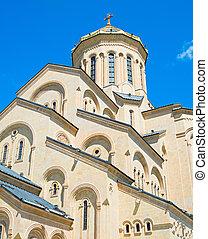 Exterior of Sameba church, Tbilisi