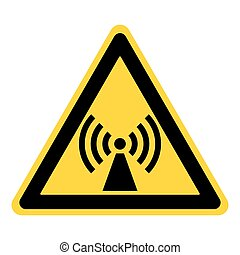 non ionized radiation sign - Non-ionizing radiation sign....