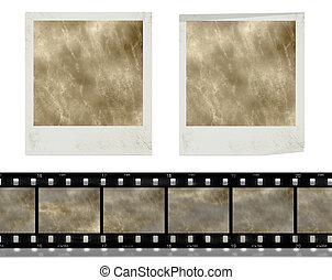 vintage retro instant photo frames and film - design...