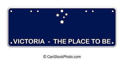 Victoria The Place To Be Australian number plate to scale