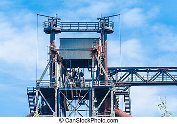 Industrial buildings, blast furnace, tower - Landschaftspark...