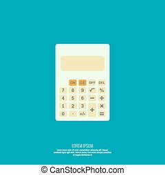Calculator top view Vector icon Flat design