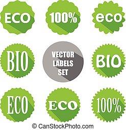 vector flat eco labels set