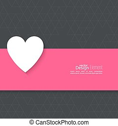 Abstract background with heart.