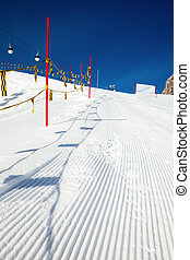 Ski slope marking