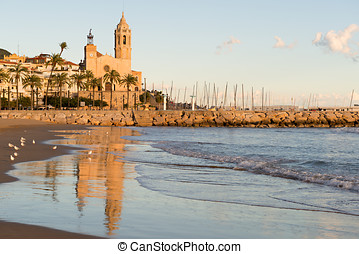 Sitges - Church of St Bartholomew and Santa Tecla - Details...