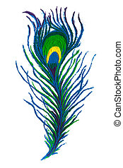 Colorful Peacock feather rangoli. - Colorful Peacock feather...