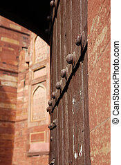 Closeup of the Entrance Gate in Agra fort