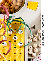 Bingo game details - Bingo game with serpentines Vertical...
