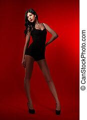 fashion portrait beautiful young woman
