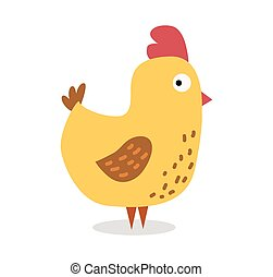 Cute cartoon chicken vector illustration. Cartoon chicken...