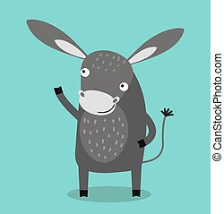 Cute cartoon donkey vector illustration. Cartoon donkey...