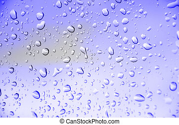Blue background - abstract blue background with drop water