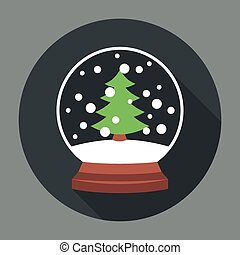 Snowball Icon Flat Editable EPS vector format