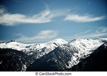 Pyrenees - Winter landscape in the Pyrenees, Andorra.