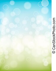 spring background with bokeh effects lights. vector