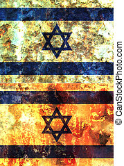 israel - some very old grunge flag of israel