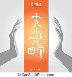Basic CMYK - Symbols Reiki signs of light and spiritual...