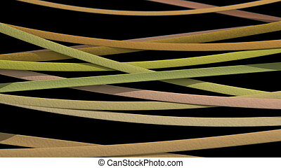 ribbon background yellow black - Abstract stripe pattern of...