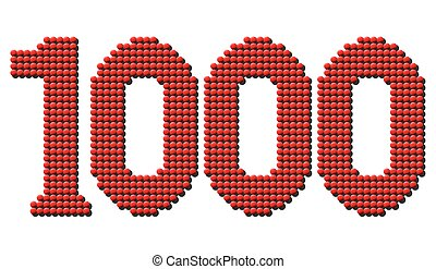 Thousand Red Tokens - Thousand red round tokens representing...