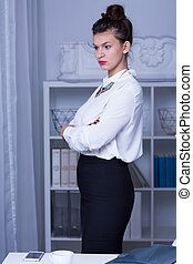 Woman in business formal wear - Image of woman in business...