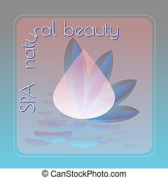 Spa natural beauty theme vector illustration with drops on...