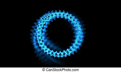 blue stars made up of aura,seamless loop