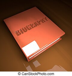 Biography book, 3d - Biography Book with leather cover, over...