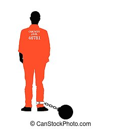 man in jail vector in colorful