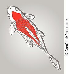 Koi Fish. Vector design