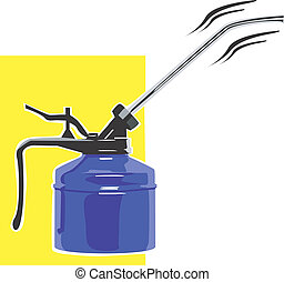 Can - Illustration of a blue can used for machine...