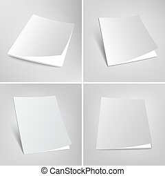 Set of blank vector magazines covers illustration. - Blank...