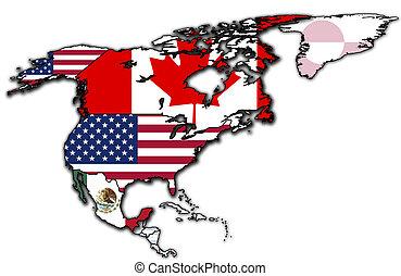 mapa,  nafta, Kraje