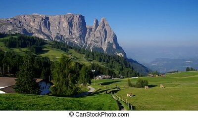 mountain Schlern in Dolomites