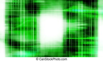 Green and black tech abstract loop - Animated green and...