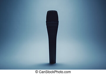 Modern Microphone Details - Closeup view of a modern...