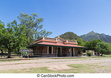 Old Train Station in Alemania, Argentina - Photograph of the...