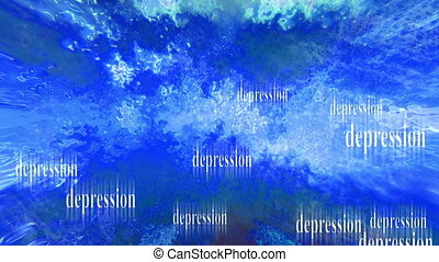 A sea of depression loop - Looping animated background A sea...
