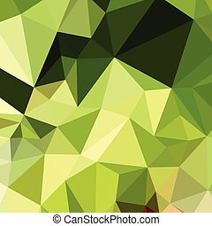 Electric Lime Green Abstract Low Polygon Background - Low...
