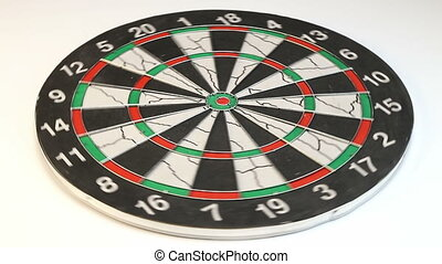 Game of Darts, video on white background
