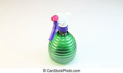 Atomizer or spray bottle, video on white background