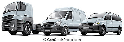 Commercail vehicles - High quality photorealistic...