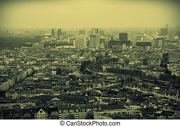 Berlin Aerial View - An aerial view of Berlin with streets,...