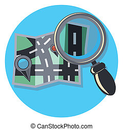 search icon circle icon with shadow - search circle icon...