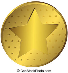 Gold medal with stars