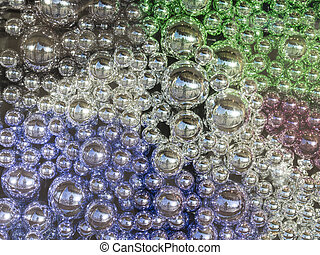 beautiful decorative glass balls - decorative, Christmas...