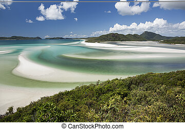 View from Hill Inlet with beach background - View from Hill...