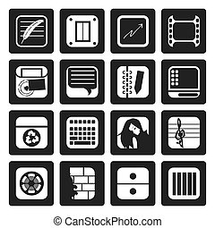 Office and Mobile phone icons